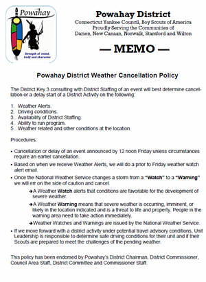 Powahay District Weather Policy